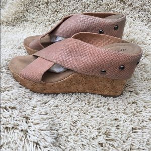 MERONA cork wedge sandals size 7